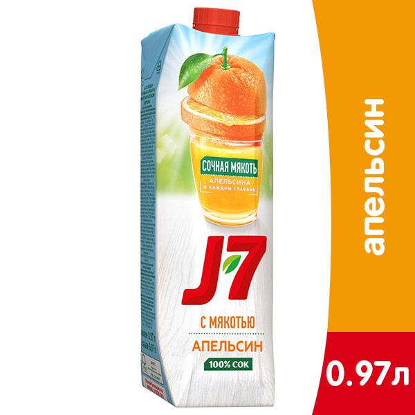 J7 / Джей Севен Апельсин 970 мл, 12 шт. в уп.