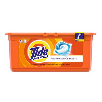 Капсулы для стирки Tide альпийская свежесть 30х25,2 гр