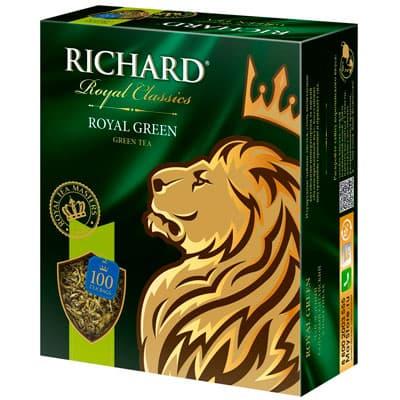 Чай Richard зелёный Royal Green 100 пак фото