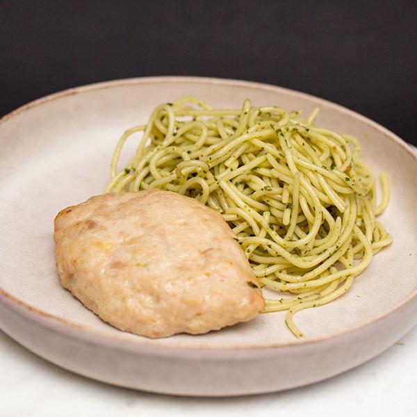 Куриная котлета и спагетти с песто Mozzarella bar 220 гр фото