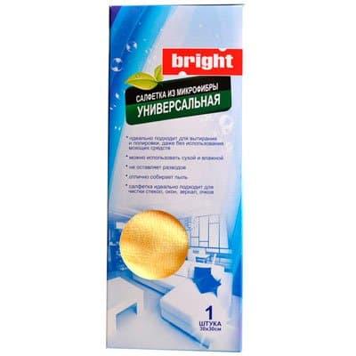 Салфетка Bright / Брайт из микрофибры универсальная 30х30