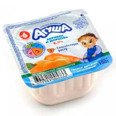 Творог Агуша абрикос и морковь 3,9% БЗМЖ