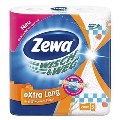 Бумажные полотенца Zewa Wisch&Wed бел.с рисун. 2 слоя (2шт)