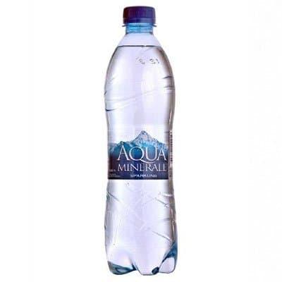 Вода Аква Минерале 0.6 литра, газ, пэт, 12шт. в уп.