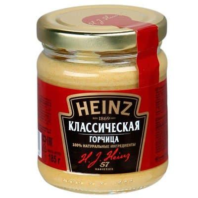 Горчица классическая Heinz 185 гр