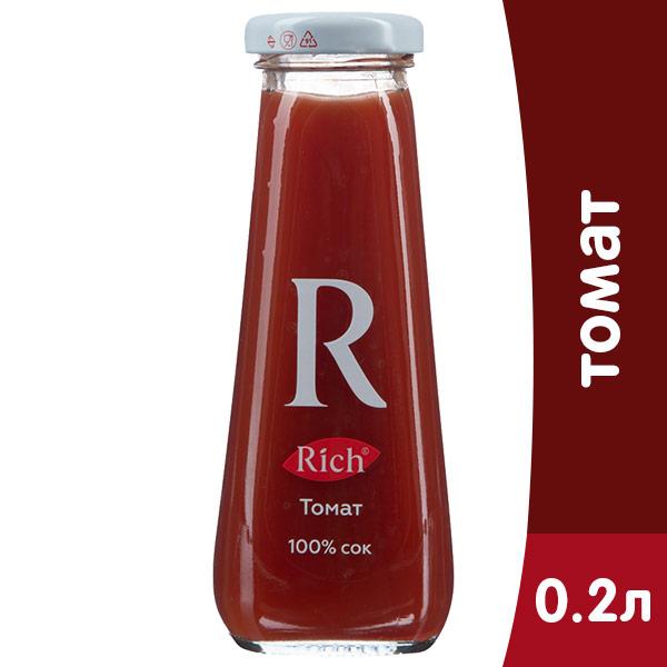 Сок Rich томат 0.2 литра, стекло, 12 шт. в уп.