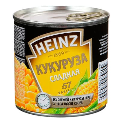 Кукуруза Heinz сладкая 340 гр фото