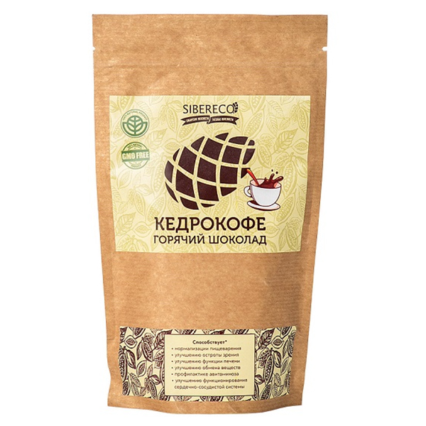 Напиток Sibereco Кедрокофе горячий шоколад 90 гр.