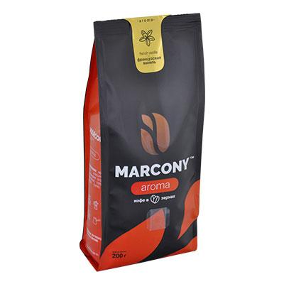 Кофе Marcony Aroma Французская ваниль зерно в/у 200 гр фото