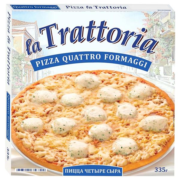Пицца La Trattoria 4 сыра 335 гр