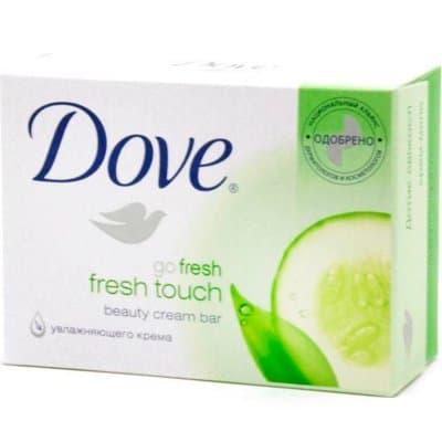 """Мыло-крем """"Dove"""" прикос. свежести 135г (3шт)"""