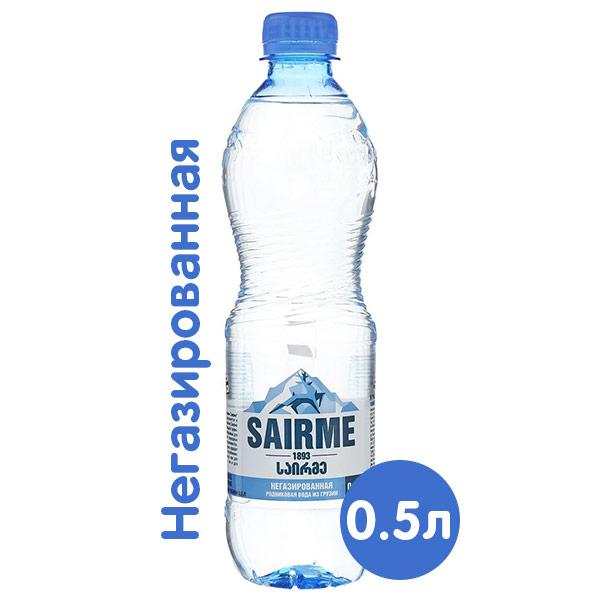 Вода Sairme родниковая 0.5 литра, без газа, пэт, 12 шт. в уп. фото