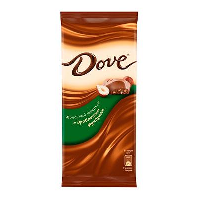 Шоколад Dove молочный с дробленным фундуком 90 гр