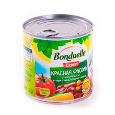 Фасоль Bonduelle красная с кукурузой в мексиканском соусе 430 гр фото