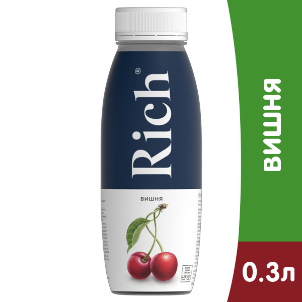 Нектар Rich вишня 0.3 литра, пэт, 12 шт. в уп.