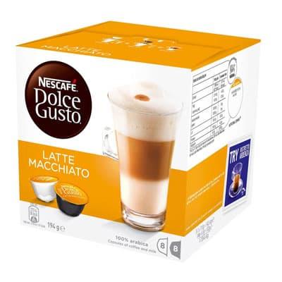 Кофе в капсулах Nescafe Dolce Gusto Latte Macchiato 8 шт - 17.4гр + 8 шт 6.5гр