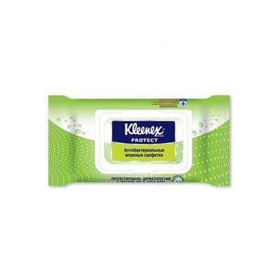 """Салфетки анитибактериальные влажные """"Kleenex""""с пластиковой крышкой (40шт.)"""