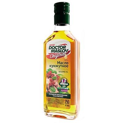 Масло кунжутное Doctor Maslov Original нерафинированное 0,25 литра фото