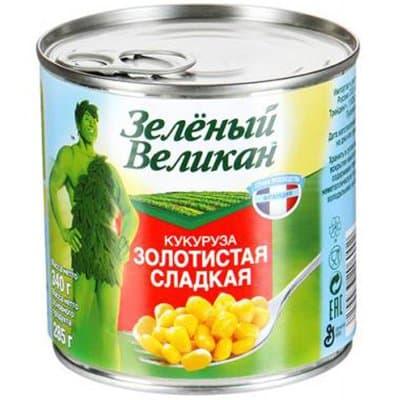 Кукуруза Зеленый Великан 340г (4шт.)