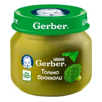 Пюре Gerber брокколи 80 гр