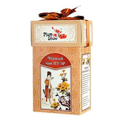 Чай Plum Snow черный Пуэр 100 гр