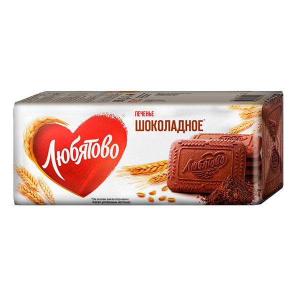 Печенье Любятово шоколадное 335 гр