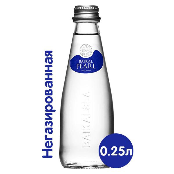 Вода Baikal Pearl / Жемчужина Байкала 0.25 литра, без газа, стекло, 24 шт. в уп. фото