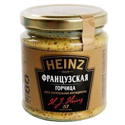Горчица французская Heinz 180 гр фото