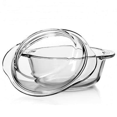 Кастрюля из термостойкого стекла с крышкой 1,5л. VQP