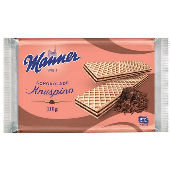 Вафли Manner с шоколадным кремом Кнуспино 110 гр