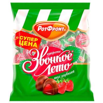 Конфеты Рот Фронт Звонкое лето со вкусом клубники 250 гр