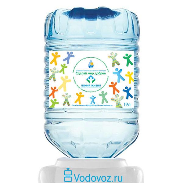 Вода Сделай Мир Добрее 19 литров в одноразовой таре