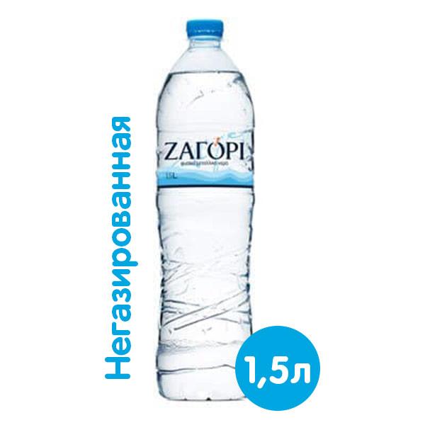 Вода Zagori 1.5 литра, без газа, пэт, 6 шт. в уп. фото