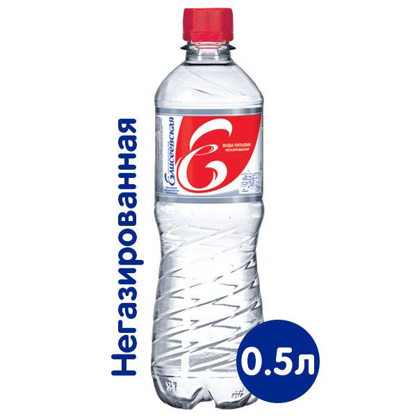 Вода Елисеевская 0.5 литра, без газа, пэт, 12 шт. в уп. фото