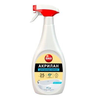Средство для чистки акриловых ванн Bagi Акрилан спрей 400 мл фото