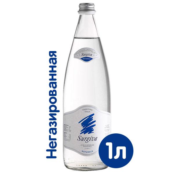 Вода Surgiva 1 литр, без газа, стекло, 12 шт. в уп. фото