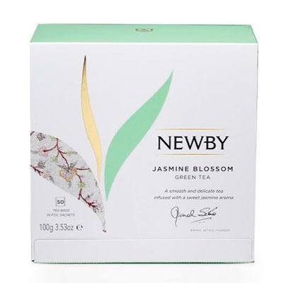 Чай Newby Jasmine Blossom зелёный 50 пак фото