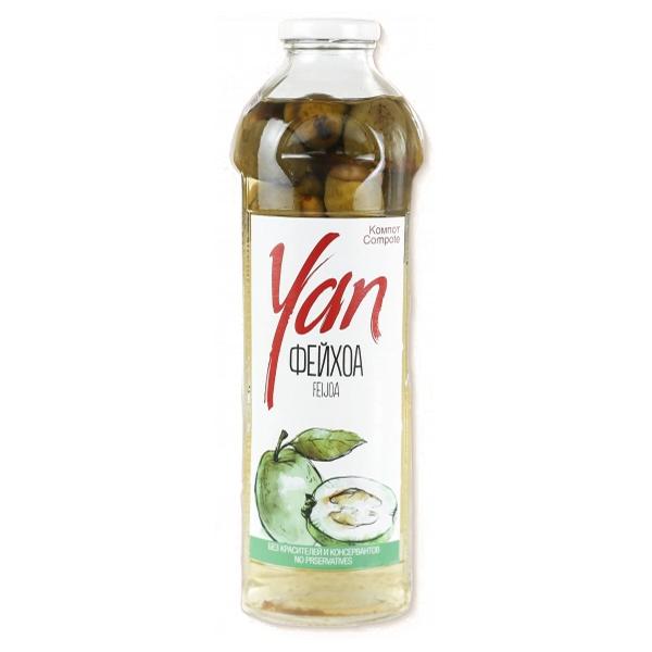 Компот YAN фейхоа 0.93 литра стекло 6 шт. в уп..
