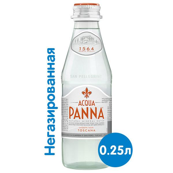 Вода Acqua Panna 0.25 литра, без газа, стекло, 24 шт. в уп. фото