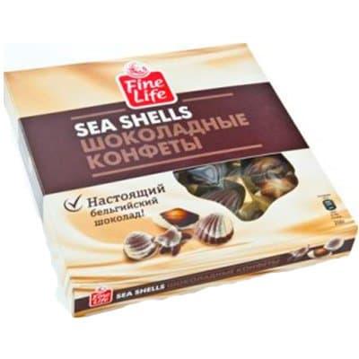 Конфеты FINE FOOD шоколадные ракушки 250 гр