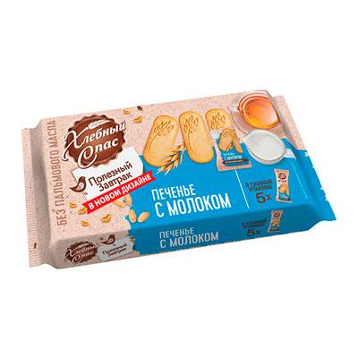 Печенье Хлебный Спас с молоком 160 гр фото