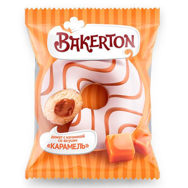 Донат глазированный Bakerton карамель 67 гр