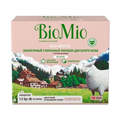 Стиральный порошок Bio Mio для белого белья 1,5 кг фото