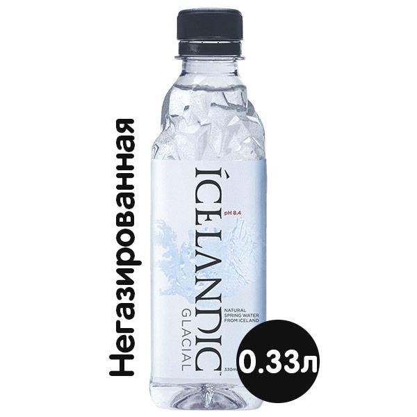 Вода Icelandic Glacial 0.33 литра, без газа, пэт, 30 шт. в уп. фото