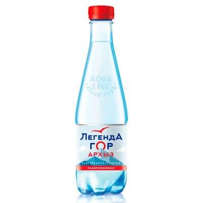 Вода Легенда гор Архыз 0.45 литра, газ, пэт, 12шт. в уп.