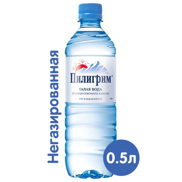 Вода Пилигрим 0.5 литра, без газа, пэт, 12 шт. в уп.