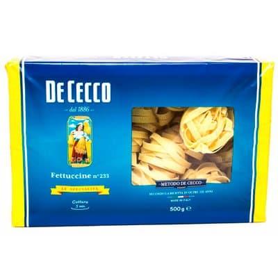 Фетучини DE CECCO 500г. (2шт.)