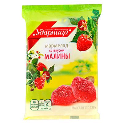 Мармелад Ударница со вкусом малины 325 гр фото