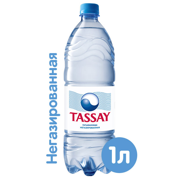 Вода Tassay 1 литр, без газа, пэт, 6 шт. в уп. фото