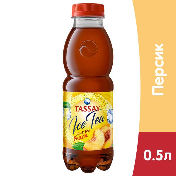 Чай Tassay черный с персиком 0.5 литра, пэт, 12 шт. в уп. фото